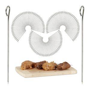 relaxdays 150er Set Rouladennadeln Edelstahlspieße für Fleisch und Gemüse Spicknadeln