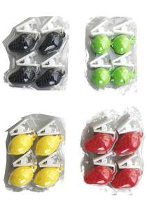 Tischdeckengewichte Tischdeckenbeschwerer Tischtuchbommel Früchte mit Clip 4-fach 16 Stück