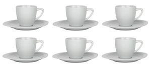 Retsch Arzberg - 6er Set Kaffeetassen á 190ml inkl. Untertassen aus hochwertigem Porzellan in Gastronomie Qualität