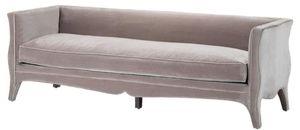 Casa Padrino Wohnzimmer Sofa Grau 225 x 79 x H. 75 cm - Luxus Samtsofa