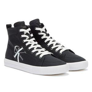 Calvin Klein Jeans Vulcanized Mid Lace Up Schwarze Herren Sneaker