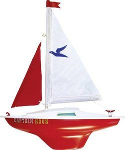 Modell Segelboot Captain Hook 24 x 31 cm weiß / rot