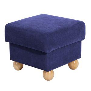 Max Winzer Monarch Hocker - Farbe: blau - Maße: 54 cm x 54 cm x 48 cm; 2904-5710-2051708-F01