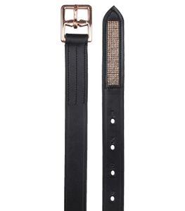 WALDHAUSEN Steigbügelriemen X-Line Rosé, schwarz, 140 cm