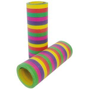 Luftschlangen Regenbogen, 10 Stück