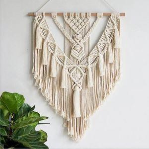 Handgewebte hängende Spitze Wandbehang Kunst gewebte Tapisserie böhmische Handwerksdekoration