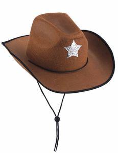Sheriff-Kinderhut Cowboy-Hut braun