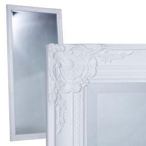 Wandspiegel Spiegel Ankleidespiegel weiß 180x80 cm Antik Barock Facettenschliff