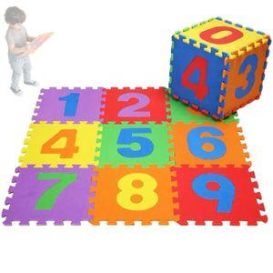 Puzzlematte Kinderteppich Spielteppich Spielmatte Lernteppich Zahlen 1-9 Kinder