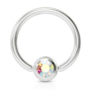 viva-adorno 1,2x8x3mm Universal Piercing Ring BCR Kristall Lippenring Klemmring Septumpiercing Brustpiercing Chirurgenstahl Z507,regenbogen