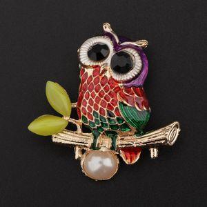 Vintage Spider Libelle Tier Broschen Lady Crystal Brosche Pin OwlB Mehrfarbig