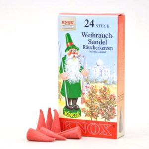 Räucherkerzen - Sandelholz 24 Stk., Kegel