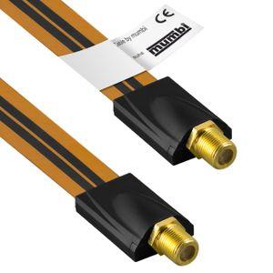 mumbi 26cm Fensterdurchführung für SAT Kabel (F-Kupplung auf F-Kupplung) extrem flach