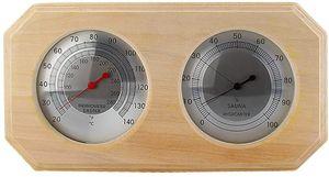 Holzsauna Hygrothermograph Thermometer Hygrometer Saunaraumzubehör (quadratisch) (A)