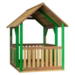 AXI Spielhaus Forest ausHolz   Outdoor Kinderspielhaus für den Garten in Braun & Grün   Gartenhaus für Kinder mit Veranda