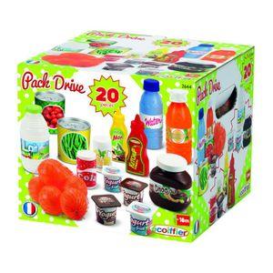 Ecoiffier Kinder Supermarkt Kaufladen mit Einkaufskorb Spielzeug Lebensmittel