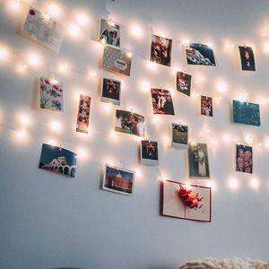 10m LED Fotoclips Lichterkette Warmweiß USB Dekorativ Foto Lichterketten mit 50 Clips
