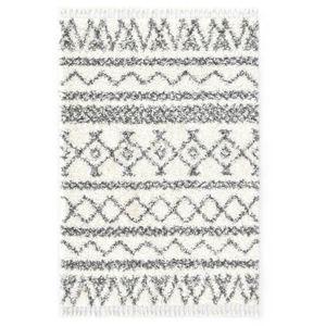 anlund Berberteppich Hochflor PP Beige und Grau 120×170 cm