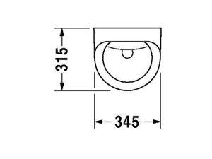Duravit Urinal Utronic, Zulauf von hinten für Netzanschluss, mit Fliege, weiß mit Wondergliss Beschichtung, 08303700971