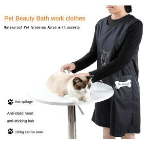 1 Stück Pet Grooming Schürze L. Schwarz Modern Hundepflege Schürze