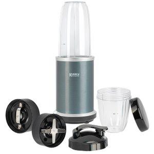 KeMar Kitchenware KSB-100G Standmixer | Grau | 2 Behälter | 2 Klingen | 2 Deckel