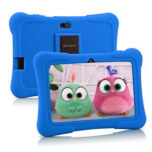 PRITOM K7 7 Zoll Kinder Tablet Android 10 Tablet PC 16 GB ROM Quad Core Tablets WiFi Tablet für Kinder,Dunkelblau