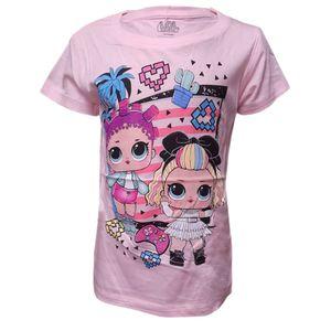 LOL Surprise T-Shirt Kinder Mädchen Top Bluse Hellrosa Gr. 128