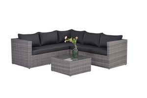 Garden Impressions Lounge Set Montana 4-teilig organic grey