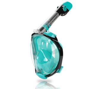 Hengda Schnorchelmaske Vollgesichtsmaske Tauchermaske Vollmaske Faltbare, mit Kamerahaltung, Anti-Fog Anti-Leck, fuer Erwachsene und Kinder Easybreath