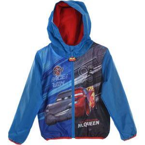 Disney Cars Kinder Kapuzen-Windjacke mit Lightning McQueen Motiv, blau, Größe:98