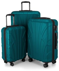 Suitline - 3er Koffer-Set Trolley-Set Rollkoffer Hartschalen-Koffer Reisekoffer, TSA, (S, M & L)