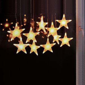 LED Sternen Lichtervorhang 100LEDs / 2,70x30cm / Innen