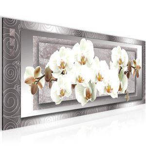 Blumen Orchidee BILD 100x40 cm − FOTOGRAFIE AUF VLIES LEINWANDBILD XXL DEKORATION WANDBILDER MODERN KUNSTDRUCK MEHRTEILIG 205412b