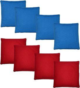 Original Cornhole Bean Bag Set (8er) - 4 rote und 4 Blaue Cornhole Säckchen  Spitzenqualität