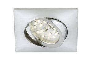 Briloner 7210-019 Led Einbaustrahler Einbau Einbauleuchte Leuchte Flach IP44 eckig Alu farben