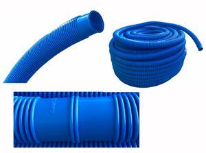 Poolschlauch 38 mm 12 Meter Schwimmbadschlauch blau Pool Saug Teich Schlauch