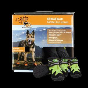 Outdoor Dog - All Road Boots - Hundeschuhe 4er Set - Grün - XXL