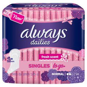always Slipeinlage Singles to go – mit Geruchsneutralisierung 20