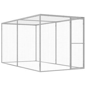 vidaXL Katzenkäfig 3x1,5x1,5 m Verzinkter Stahl