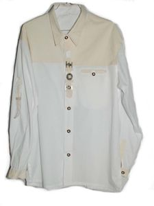 Trachtenhemd weiß mit Verzierung Gr. L - 42 Hemden Tracht Oktoberfest