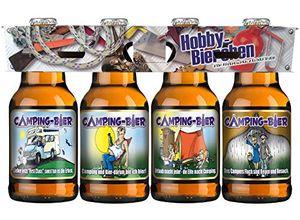 Camping Bier im Happy Birthday 4er Hoby Motiv Träger (8,33 EUR / l)