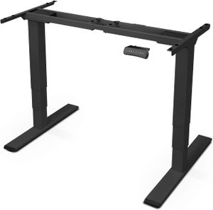 Höhenverstellbarer Schreibtisch Elektrisch höhenverstellbares Tischgestell, 3-Fach-Teleskop, passt für alle gängigen Tischplatten. Mit Memory-Steuerung und Softstart/-Stop