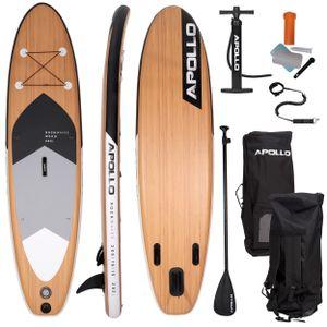 "Apollo SUP Board, SUP Komplettset Stand-up-Paddling Set ""Wood""  3 m"