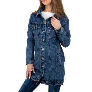 Ital-Design Damen Jacken Jeansjacken Blau Gr.m/38