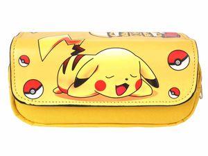 Pokemon große Federtasche mit Pikachu   Kunstleder Abdeckung   Gelb