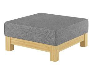 Gemütlicher gepolsterter Hocker für Schlaf- und Wohnzimmer mit wählbarer Farbe V-90.71-43, Holzart / Holzfarbe:Kiefer