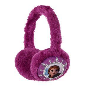 Disney 'Frozen 2' Kinder Fleece-Ohrenwärmer mit Anna Elsa Motiv, lila