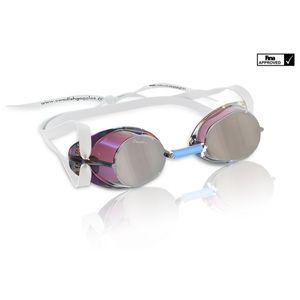 Malmsten Schwedenbrille - metallic verspiegelt, Farbe:silber