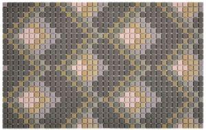GLASMOSAIK Nachbildung dunkelgrau matt Mosaikfliese Wand Fliesenspiegel Küche Bad MOS140-RO6_f
