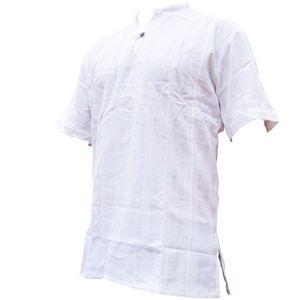PANASIAM Fisherman Shirt Ben kurzarm, Farbe/Design:weiß, Größe:L